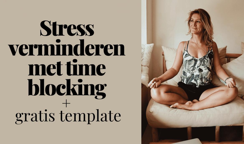stress verminderen time blocking gratis template
